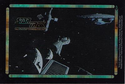Star Trek TNG 1996 Vending Machine card/sticker with various starships