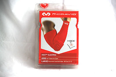 McDavid HexPad Armstulpe 6500 POWER SHOOTER, red, L 28-33 cm *NEU*