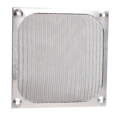 Silver 120mm Aluminum Dustproof Cover Dust Filter for PC Cooling Chassis Fan