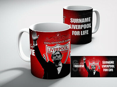 Personalised LIVERPOOL Football Club Liverpool FC for life Mug Gift