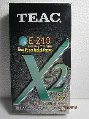 Blank TEAC E-240, 4 Hour VHS Tape Brand New & Sealed