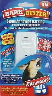 Ultrasonic Dog Anti Bark Barking Control Buster Replant Stopper Outdoor Indoor