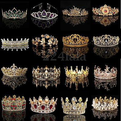 Wedding Princess Bridal Crown Crystal Rhinestone Pageant Headband Jewelry Tiara