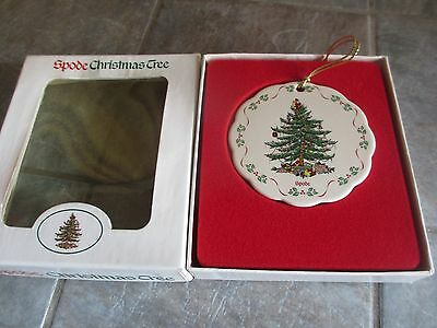 SPODE Christmas Tree ORNAMENT with BOX Undated