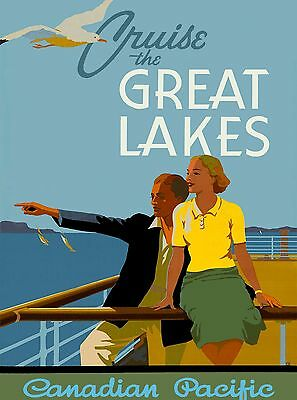Cruise the Great Lakes Michigan United States Travel Advertisement Poster 2
