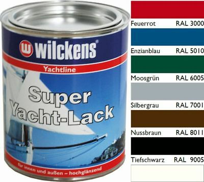 Wilckens Super Yachtlack 750 ml / 2,5 l Wilckens Bootslack Holz Metall