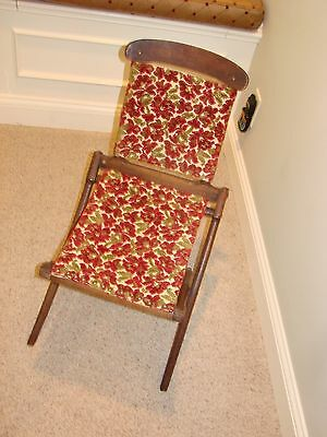 Pat'd 1866 Surgeon's Folding  Chair! Incredible Shape! Original Metal Id Tag!
