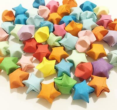 50 Origami Lucky Paper Stars Handmade Folded Party Decoration Supplies Craft