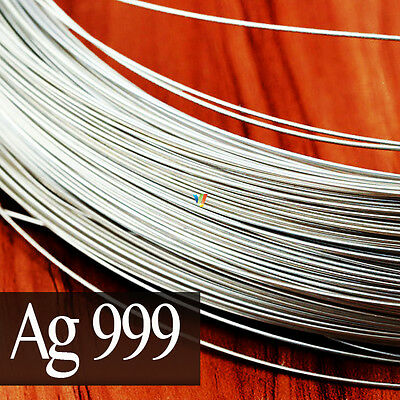 99.9% FINE STERLING SILVER ROUND WIRE 0.25 to 3mm ~999~ JEWELRY MAKING WRAPPING