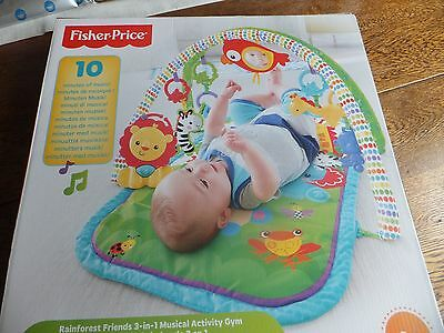 Fisher-Price - Rainforest Friends - 3-in-1 - Musical Activity Gym - Suitable 0+