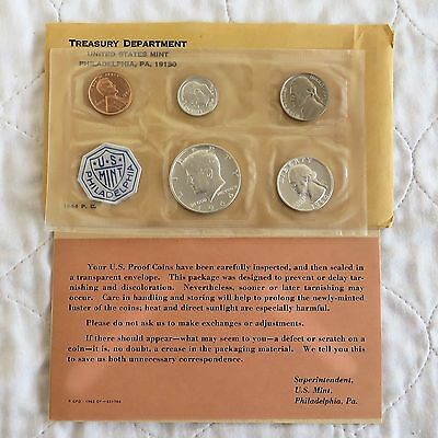 USA 1964 5 COIN PROOF YEAR SET WITH SILVER - sealed pack
