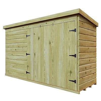 PRESSURE TREATED T&G WOODEN 5 x 2 BIKE TOOL SHED GARDEN STORE RIGHT DOUBLE DOOR