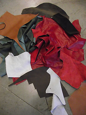 Leather offcuts Craft Cowhide pieces - Bags LARP Medieval
