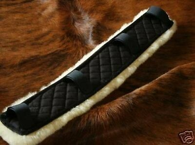 Beautiful real lamb's fur Seat belt covers for Breast plate Waist belt