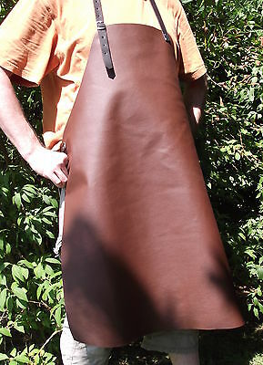 Stain resistant Barbecue apron Leather Cook's Bistro brown