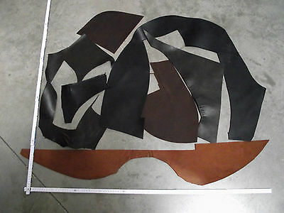 Leather Pieces Offcuts Cowhide Thick Leather, Craft Medieval Western Larp