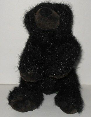 Ozark Bear Plush by Russ Berrie Stuffed Animal Teddy Black Brown Grizzly