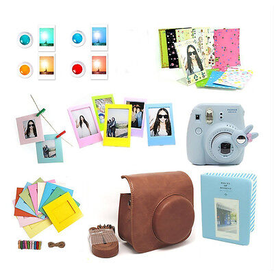 Instant Camera Case Accessories Bundle Set Kit for Fujifilm Instax Mini 8 Brown