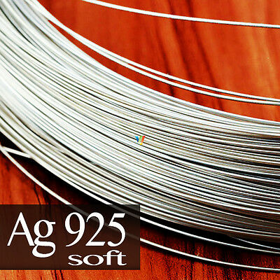 925 SOLID STERLING SILVER ROUND WIRE 0.25 to 2mm ~SOFT~ JEWELRY MAKING WRAPPING