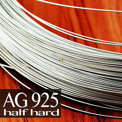 925 SOLID STERLING SILVER ROUND WIRE 0.25 to 2mm ~HALF HARD~ JEWELRY MAKING
