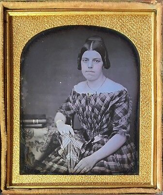 Marshal County Il 1858? Rare George Washington Case 1/6 Daguerreotype D300