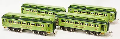 MTH Stephen Girard Two-Tone Green 424 425 426 427 Model Train Cars Set Excellent