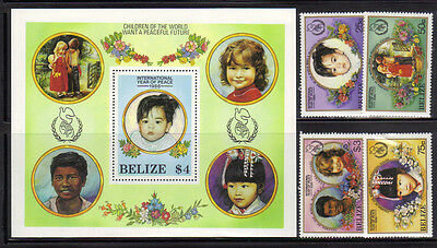 Belize 838-42 Year of Children Mint NH