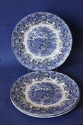 "Alfred Meakin  Staffordshire, ""The Courtship"" plates x 3."