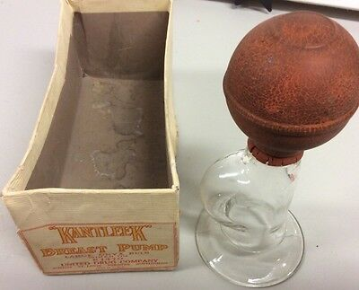 Vintage KANTLEEK Breast Pump United Drug Company USA Onyx Bulb Original Box