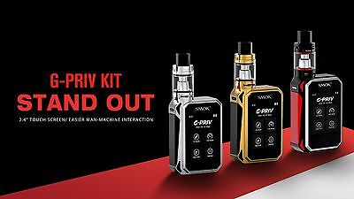 100 % Authentic Smok G-Priv | 220W Touch Screen Kit In With New Big Baby Tank