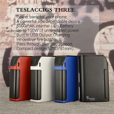 Tesla Teslacigs Three Starter Kit Built In 5000mAh Mod 150W Subtank Vape