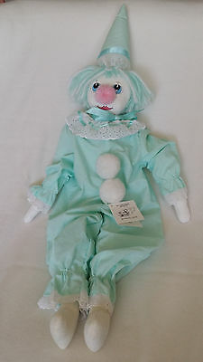 """HAND MADE Collectable Rag Doll Clown 60cm """"PEPE"""""""