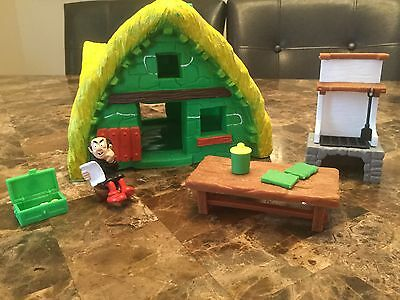 ❉ Schtroumps /  Smurfs ❉ Smurfs House Green & Yellow With Gargamel Playset ❉