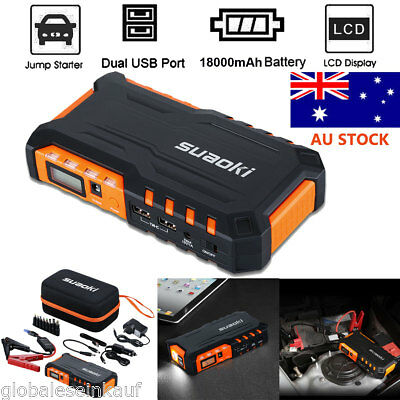 18000mAh 12V Car Jump Starter Booster Power Bank Emergency Battery Charger Pack