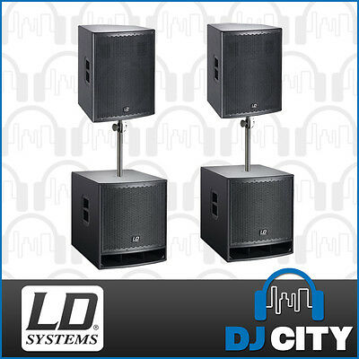 LD Systems PK-LDGT15SUB 15″ Powered PA Package