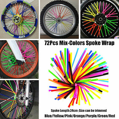7colors Mix Rainbow Spoke Wrap Kit Wraps Covers Skins Colours Skinz Custom KTM