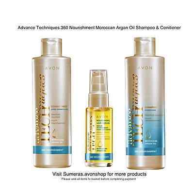 AVON Moroccan Argan Oil Shampoo, Conditioner, Hair Mask & Serum Free P&P ~ Sale!