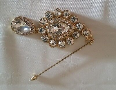 Hijab Stick Pins with pin protector - Gold/Silver