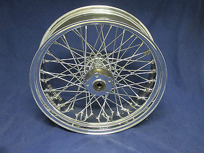 Harley Chrome 60 Spoke 18'x 5.5' 200 Wide Rear Wheel As Good As New- USED