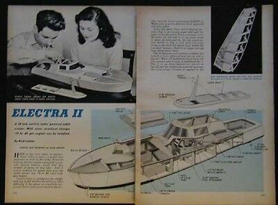 """32"""" Cabin Cruiser Electra II Streamline1949 How-To build PLANS"""
