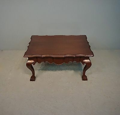 """KINDEL Mahogany Chippendale Ball & Claw Foot Coffee Table H:17"""" x W:32"""" x D:20"""""""