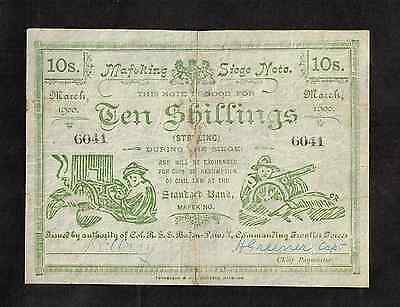 SOUTH AFRICA Ten Shillings Mafeking Siege banknote