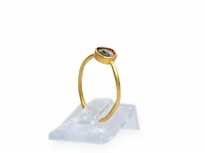 Roman Child Gold and Glass Ring