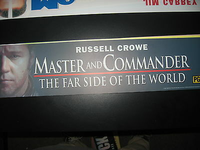 Theater Marquee Mylar Master and Commander
