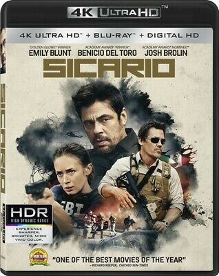 Sicario (2016, Blu-ray NUEVO)2 DISC SET (REGION A)