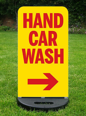 Hand Car Wash Sign Pavement Sign Valeting Sign A Board  With Free Design & Print