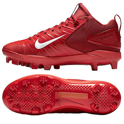 Nike Trout 3 Pro MCS Baseball Cleats BSBL Red/White 856502-667