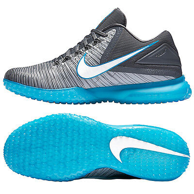 Nike Zoom Trout 3 Baseball Cleats Turf TF Shoes Gray/Blue/White 844628-410