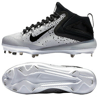 Nike Zoom Trout 3 Metal Baseball Cleats BSBL White/Black 856503-009