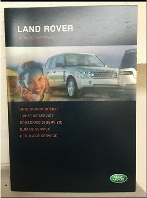 Land Range Rover Sport Discovery Freelander Defender Service History Book Record